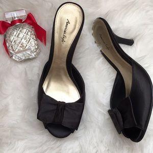 American Eagle Black Halo heels/Mules